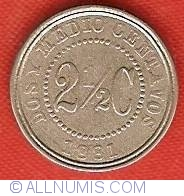 Image #2 of 2-1/2 Centavos 1881