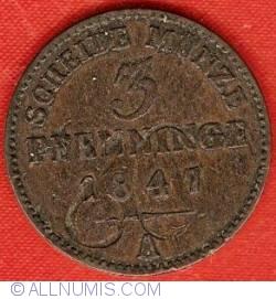 Image #2 of 3 Pfenninge 1847