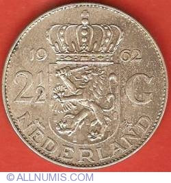 Image #2 of 2-1/2 Gulden 1962