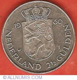 2-1/2 Gulden 1980 - Investure of New Queen
