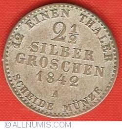 Image #2 of 2-1/2 Silbergroschen 1842 A
