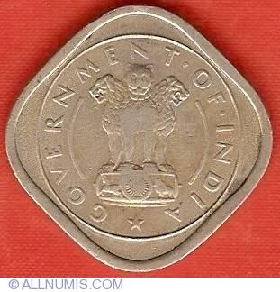 India-Republic 1954 b Two Annas Coin.