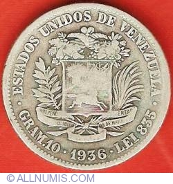 Imaginea #1 a 2 Bolivares 1936