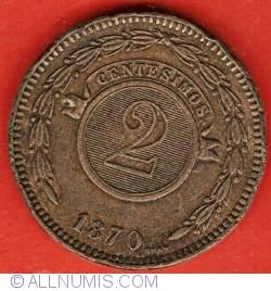 Imaginea #2 a 2 Centesimos 1870