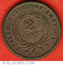 Image #2 of Two-cent Piece 1864 - large motto