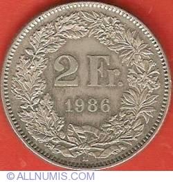 Image #2 of 2 Francs 1986