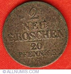 Image #2 of 2 Neu-groschen (20 Pfennig) 1844 G