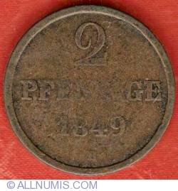 Image #2 of 2 Pfennige 1849