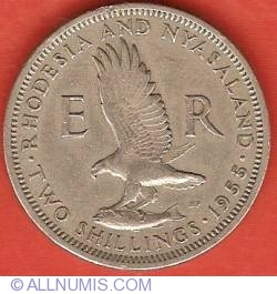 Image #2 of 2 Shillings 1955