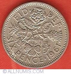 6 Pence 1961