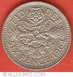 6 Pence 1964