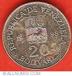 Imaginea #1 a 20 Bolivares 1998