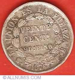 Imaginea #2 a 20 Centavos 1876