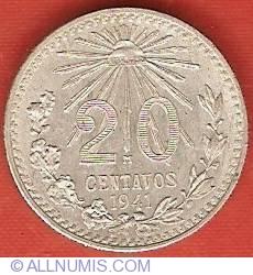 Image #2 of 20 Centavos 1941