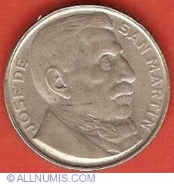 Image #2 of 20 Centavos 1950 - Year of Liberator de San Martin