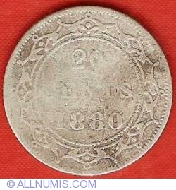 Image #2 of 20 Cents 1880