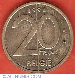Image #2 of 20 Francs 1994 (Dutch)