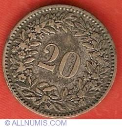 Imaginea #2 a 20 Rappen 1859