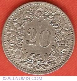 Imaginea #2 a 20 Rappen 1881