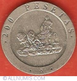 Image #2 of 200 Pesetas 1990