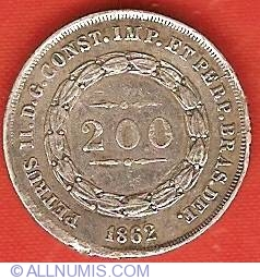 Image #2 of 200 Reis 1862