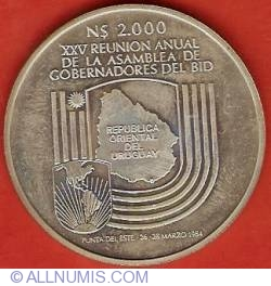 Imaginea #2 a 2000 Nuevos Pesos 1984 - XXI BID Governors Assembly