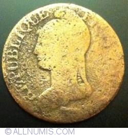 Image #1 of 5 Centimes 1796 (l an 5) W