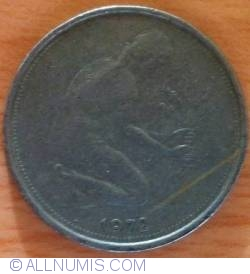 Imaginea #2 a 50 Pfennig 1972 F