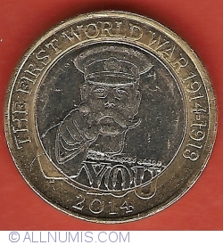 Image #1 of 2 Pounds 2014 - The 100th Anniversary of the First World War