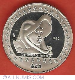 Image #2 of 25 Pesos 1992 - Eagle Warrior