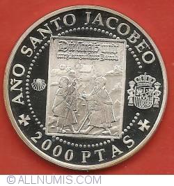 Image #2 of 2000 Pesetas 1993 - Holy Jacobean Year