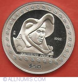 Image #2 of 50 Pesos 1992 - Eagle Warrior