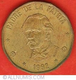 1 Peso 1992 - DUARTE below bust