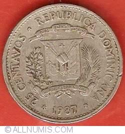 Imaginea #1 a 25 Centavos 1987
