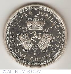 Image #2 of 1 Crown 1977 - Silver Jubilee (silver Coin)