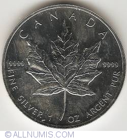 Image #2 of 5 Dollars 1996 - Maple Leaf