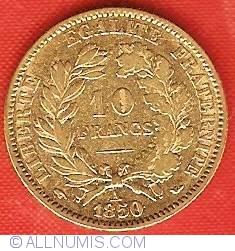 Imaginea #2 a 10 Francs 1850 A