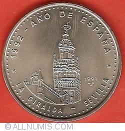 Imaginea #2 a 1 Peso 1991 - 1992 Year of Spain - La Giralda Sevilla