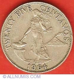 Image #2 of 25 Centavos 1964