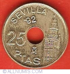 Image #2 of 25 Pesetas 1992