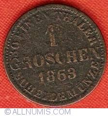 Image #2 of 1 Groschen 1863 B