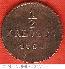 Image #2 of 1/2 Kreuzer 1854