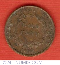 Image #1 of 1/2 Cent 1845