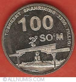 Image #2 of 100 Som 2009 - 2200th Anniversary of Tashkent