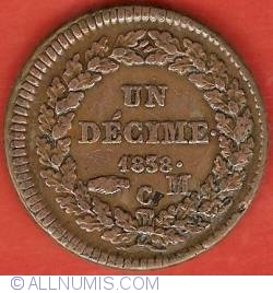 Imaginea #2 a 1 Decime 1838