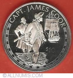 Image #2 of 10 Dollars 1994 - Captain James Cook