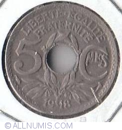 Image #2 of 5 Centimes 1918