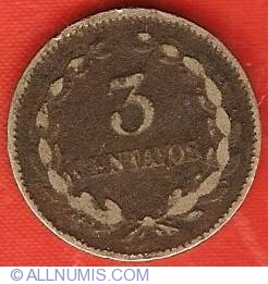 Imaginea #2 a 3 Centavos 1913 H