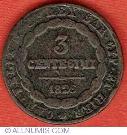 Image #2 of 3 Centesimi 1826