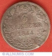 Image #2 of 3 Kreuzer 1844